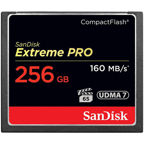 SanDisk Extreme Pro - flash memory card - 256 GB - CompactFlash