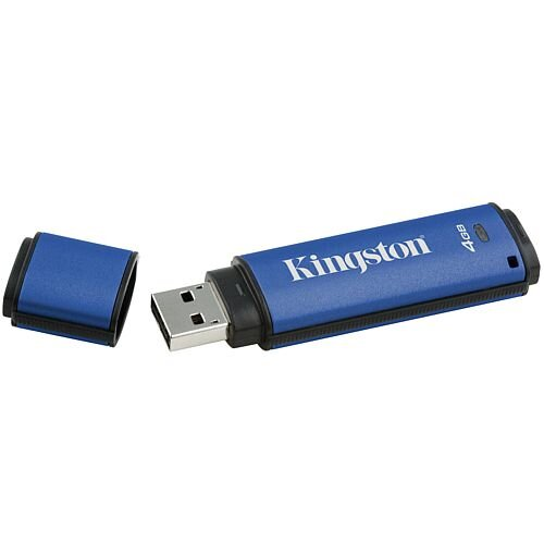 Kingston DataTraveler Vault Privacy 3.0 - USB flash drive - encrypted - 4 GB - USB 3.0