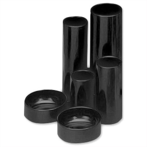 Desk Tidy Black 6 Compartment Tubes 5 Star
