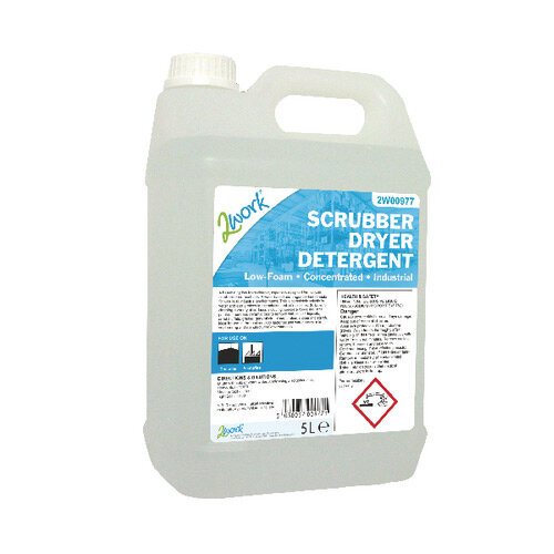 2Work Scrubber Dryer Floor Cleaning Detergent Foam 5 Liters