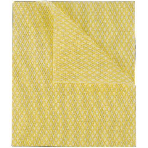 2Work Economy Cloths Yellow 42X35CM Pack of 50 CCYC42BDI