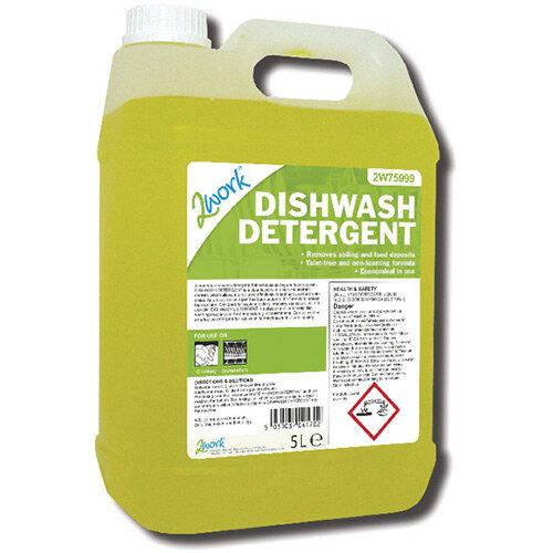 2Work Machine Dishwasher Liquid Detergent 5 Litre Pack of 1