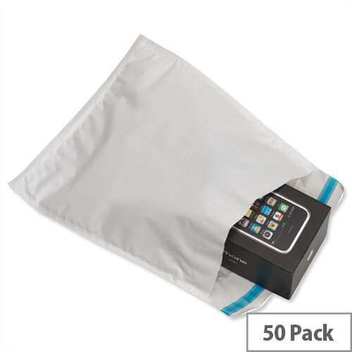 Ampac White C3 Extra-Strong Padded Polythene Protective Envelopes Pack 50