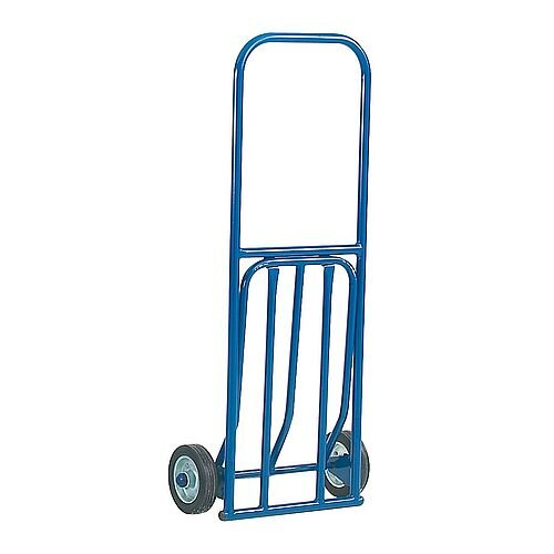 Lightweight General Duty Blue Hand Truck With Rubber Wheels Capacity 100kg 316789