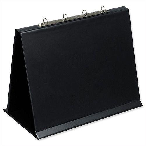 A3 Easel Presenter 4 Ring Landscape Black Bantex