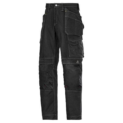 """Snickers Cotton Trousers Black Waist 33"""" Inside leg 35"""" WW1"""