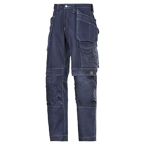 "Snickers Cotton Trousers Navy Waist 33"" Inside leg 30"" WW1"