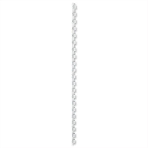 Binding Combs Plastic 21 Ring 35 Sheets A4 6mm White Pack 100 5 Star