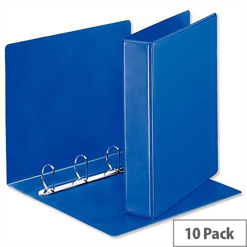 Esselte Presentation Ring Binder A4 Blue 40mm Size 4 D-Ring 600532/49762-R9 Pack 10