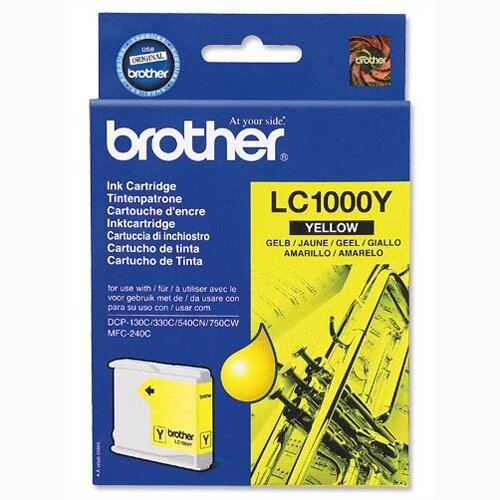 Brother LC-1000Y Yellow Ink Cartridge LC1000Y