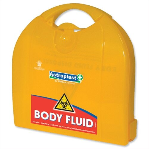 Wallace Cameron First Aid Body Fluid Kit Piccolo Dispenser Up to 5 Person