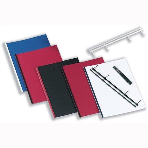 GBC Desktop Velobinder Binding Strips Black 25mm 4 Prongs Bind 200 Sheets A4 Pack 25