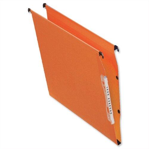 Bantex Linking Lateral Suspension File 330mm Kraft 210gsm Square-base 300 Sheet Capacity Orange Ref 100330744 [Pack 25]