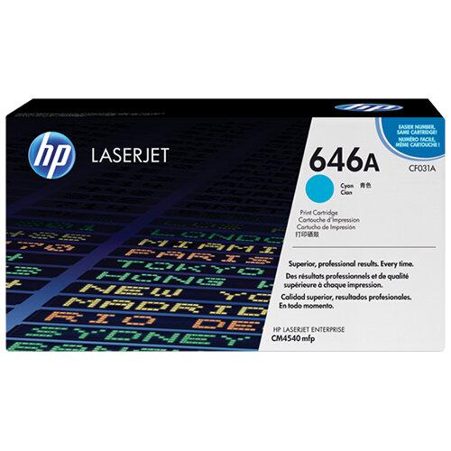 HP 646A Cyan LaserJet Toner Cartridge CF031A