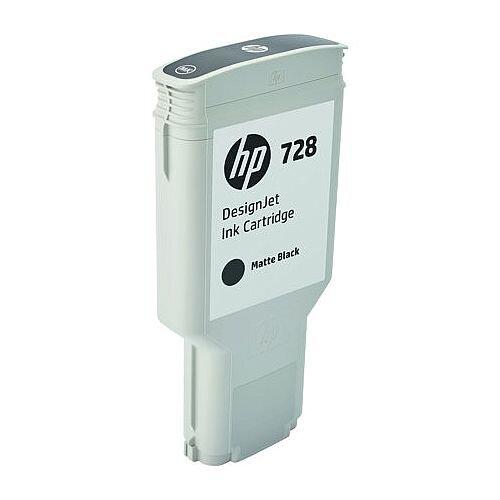 HP 728 Matte Black (Dye) 300ml Original DesignJet Ink Cartridge F9J68A