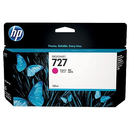 HP 727 Magenta (Dye) 300ml Original DesignJet Ink Cartridge F9J77A