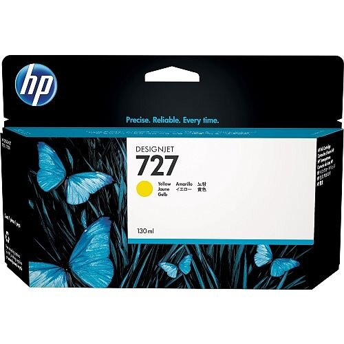 HP 727 Yellow (Dye) 300ml Original DesignJet Ink Cartridge F9J78A