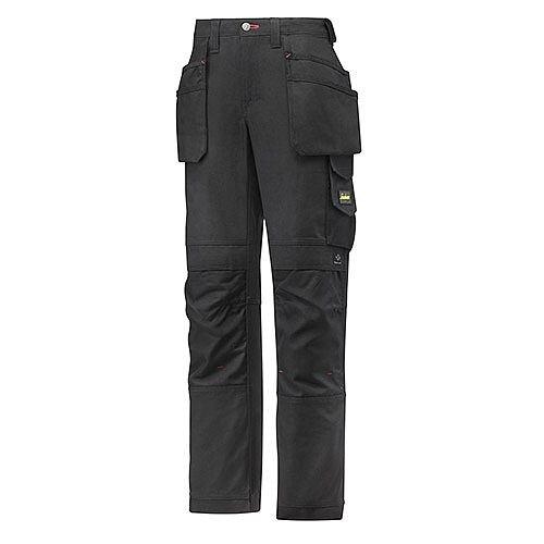 "Snickers 3714 Women's Holster Pocket Trousers Canvas+ Size 88 WAIST 33"" LEG 33"" Black"
