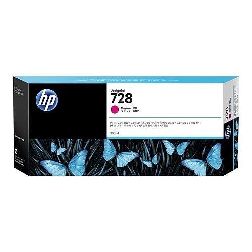 HP 728 Magenta (Dye) 300ml Original DesignJet Ink Cartridge F9K16A