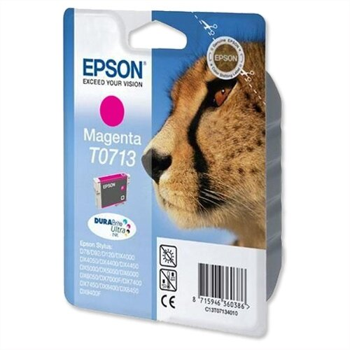 Epson (T0713) Magenta Ink Cartridge Cheetah Series C13T07134012