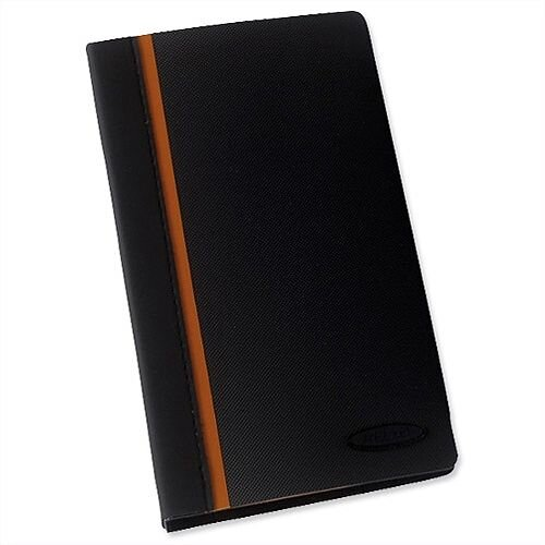Rexel Business Card Book Professional Ring Binder with A-X Index Capacity 128 Cards Ref 2101131 378258