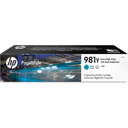 HP 981Y Cyan Extra High Capacity PageWide Ink Cartridge L0R13A
