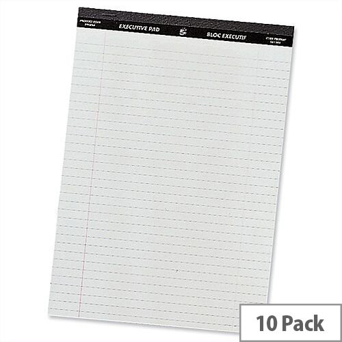 A4 Executive Pad Perforated Red Margin 50 Sheets Pack 10 5 Star