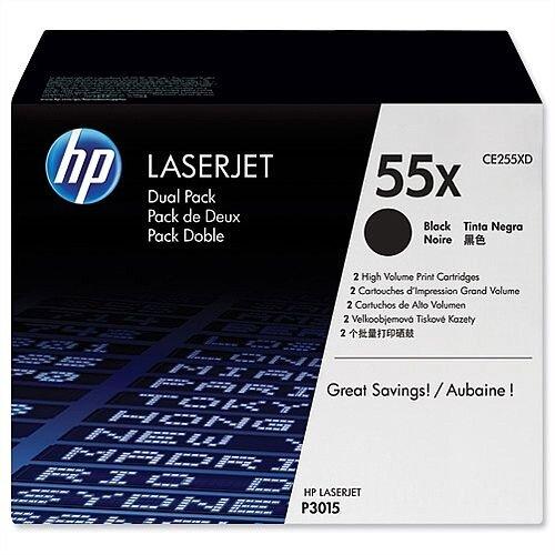 HP 55X Black Laser Toner Cartridge Twinpack CE255XD