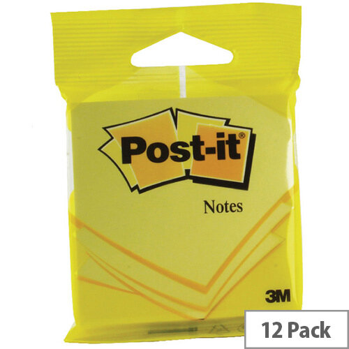 Post-it 76x76mm Yellow Notes 6820YEL Pack of 12
