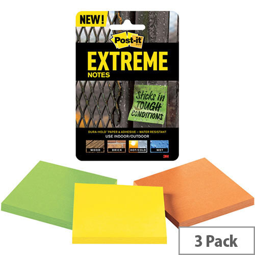 Post-it Notes Extreme 76 x 76mm Assorted Pack of 3 EXT33M-3-UKSP