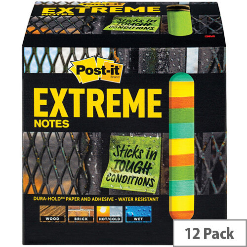 Post-it Notes Extreme 76 x 76mm Assorted Pack of 12 EXT33M-12-UKSP