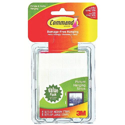3M Command Picture Hanging Strips Value Pack Pack of 24 17209