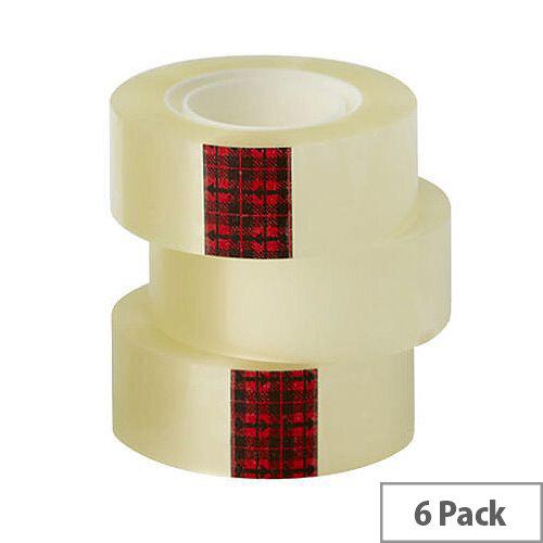 3M Scotch Easy Tear Transparent Tape 24mm x 33mm ET2433T6 Pack 6
