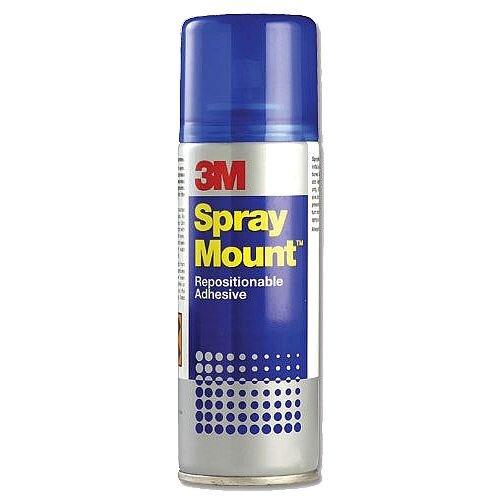 3M Spray Mount Repositionable Adhesive Spray Can 200ml HSMOUNT