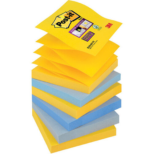 Post-it Super Sticky Z-Notes 76 x 76mm New York Pack of 6 R330-SS-NY