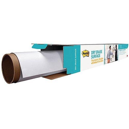 Post-it Super Sticky White Dry Erase Film Roll 15.24 x 1.21m DEF50X4-EU