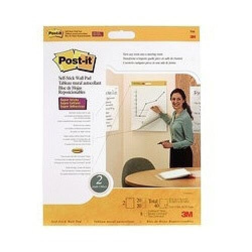 3M Post-it Table Top Meeting Chart White Pack of 2 566