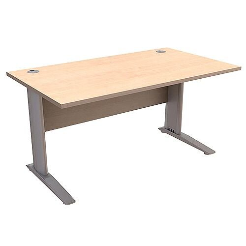 Cantilever Office Desk Rectangular W1600xD800xH725mm Maple Komo