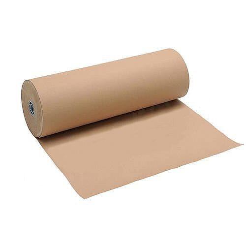 Brown Wrapping Paper Roll Kraft 90gsm 600mm x 225m Masterline
