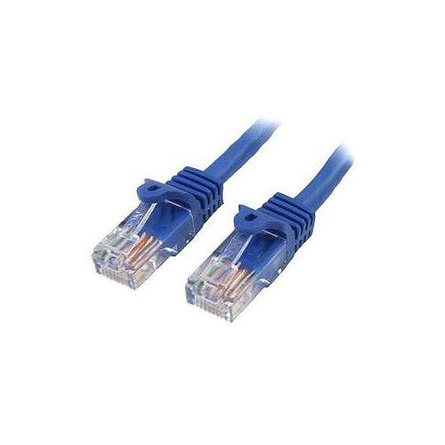 StarTech 0.5m Blue Cat5e Patch Cable with Snagless RJ45 Connectors Short Ethernet Cable 0.5 m 45PAT50CMBL