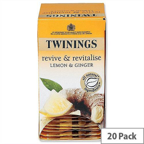 Twinings Infusion Tea Bags Lemon and Ginger Pack 20
