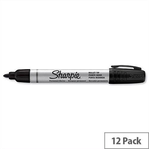 Sharpie Black Permanent Marker Bullet Tip 1.0mm Line S0945720 Pack 12