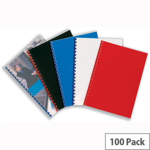 GBC PolyClearView Binding Covers Polypropylene 300 micron A4 Frosted Pack 100