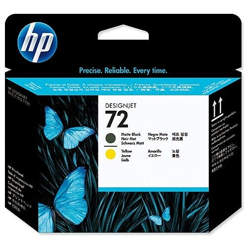 HP 72 Matte Black and Yellow Printhead C9384A
