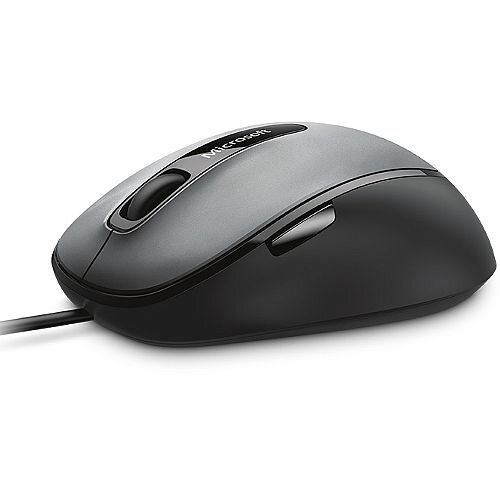 Microsoft 4500 Comfort Optical Mouse, 5 Buttons, 1000dpi, USB, Black