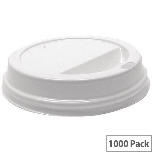 MyCafe Plastic Lids For 12oz-16oz Paper Disposable Cups [Pack of 1000] White Hhlids12