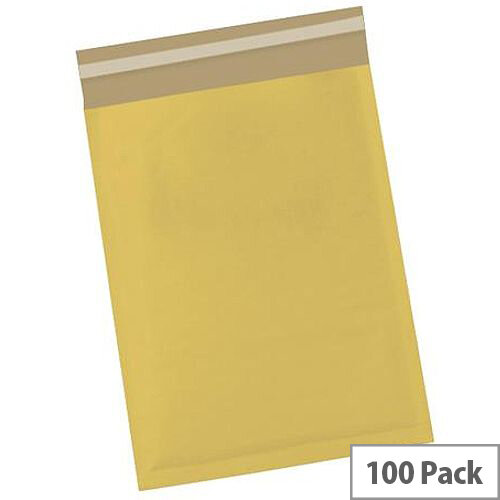 5 Star Office Bubble Lined Bags Size 1 Gold 170x245mm Pack of 100