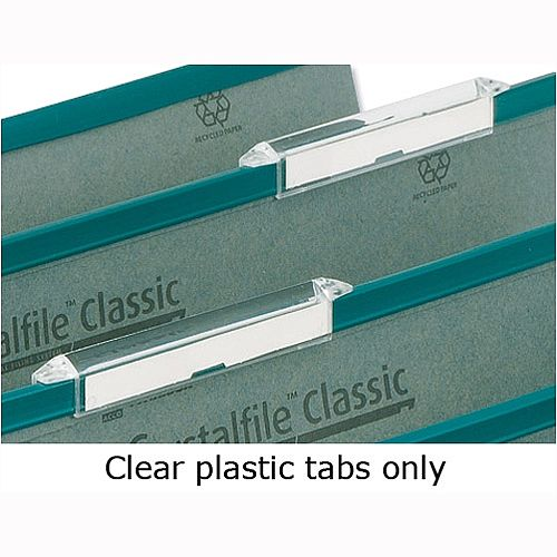 Plastic Tabs For Rexel Crystalfile Linked Suspension File 78289 Pack 50