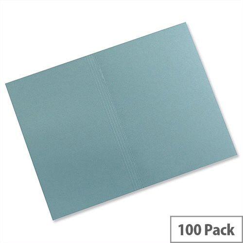 Guildhall Square Cut Folders Manilla Foolscap Blue FS315 Pack 100