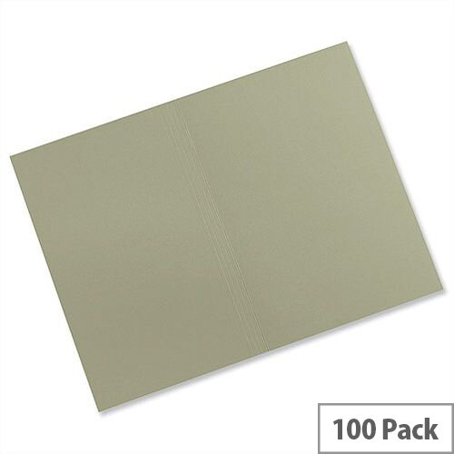 Guildhall Square Cut Folders Foolscap Manilla Green FS315 Pack 100